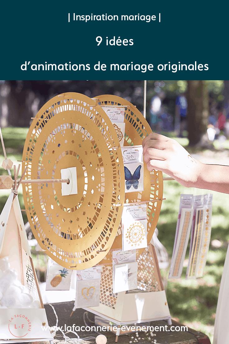 9 idées d'animation de mariage originales